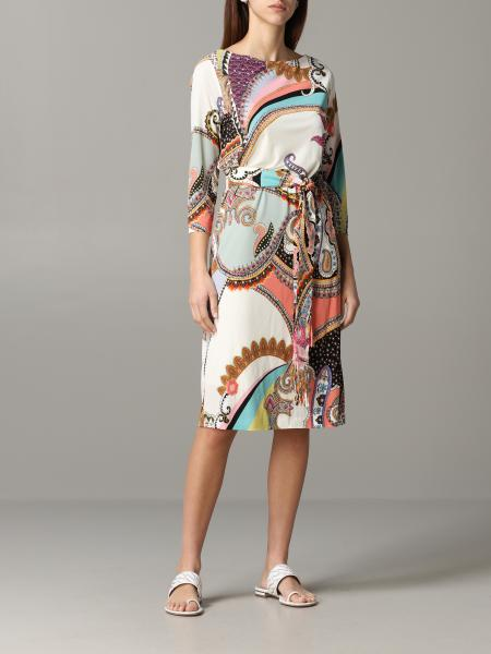 Etro printed dress with belt