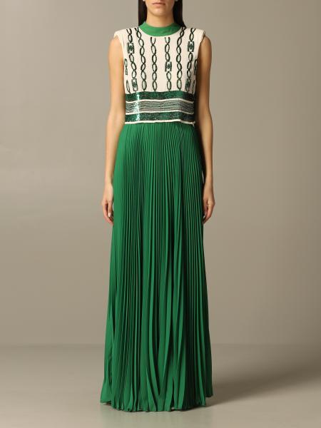Elisabetta Franchi Kleid mit Pailletten Ketten