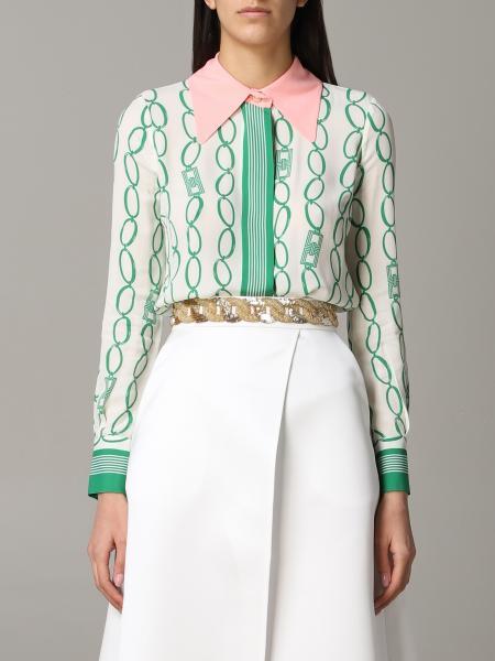 Camicia Elisabetta Franchi con stampa catene