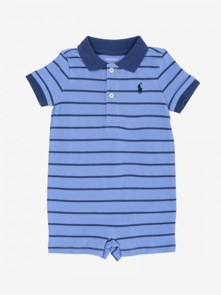Polo Ralph Lauren Infant striped onesie with logo