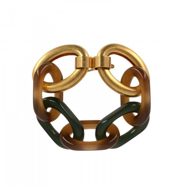 Marni chain bracelet in brass and resin