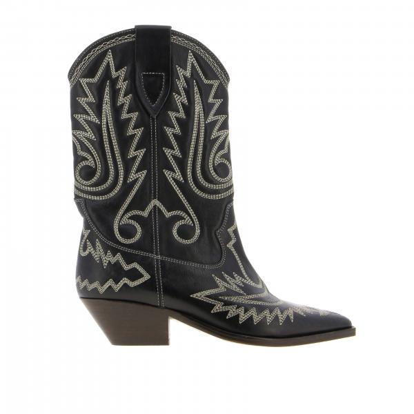Stivale Isabel Marant in pelle con ricami stile country