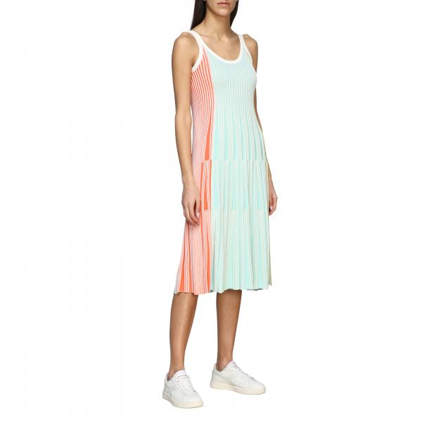 Kenzo sleeveless dress in colored ribbed knit