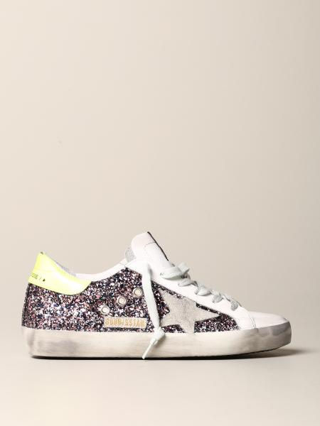 Sneakers Golden Goose in pelle e glitter