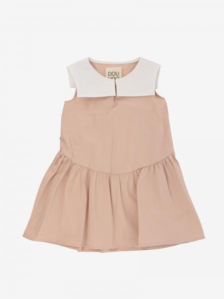 Douuod Kleid mit kontrastierendem Umhang