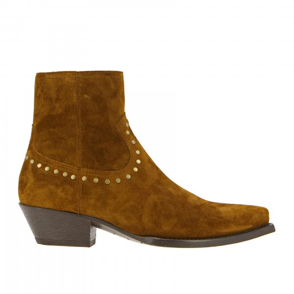 Saint Laurent ankle boot in suede with studs