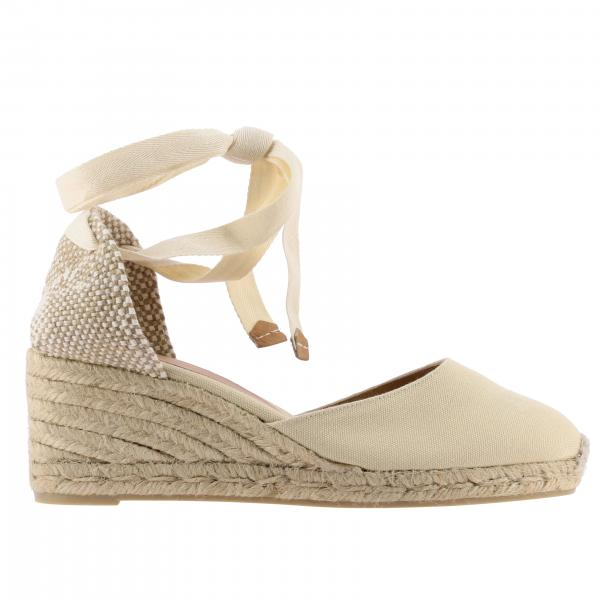 Castaner wedge espadrilles in canvas with laces