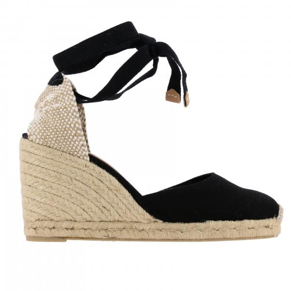 Carina Castaner wedge espadrilles in cotton with laces