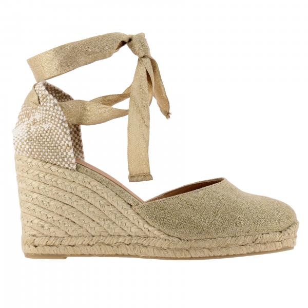Carina Castaner wedge espadrilles in canvas with laces