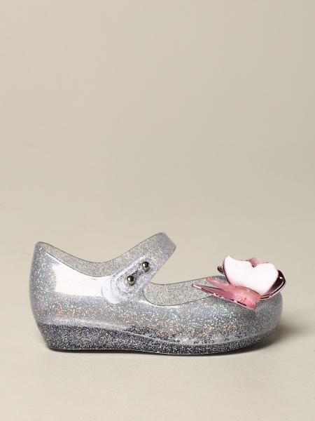 Mini Melissa ballet flat in glitter pvc with butterflies