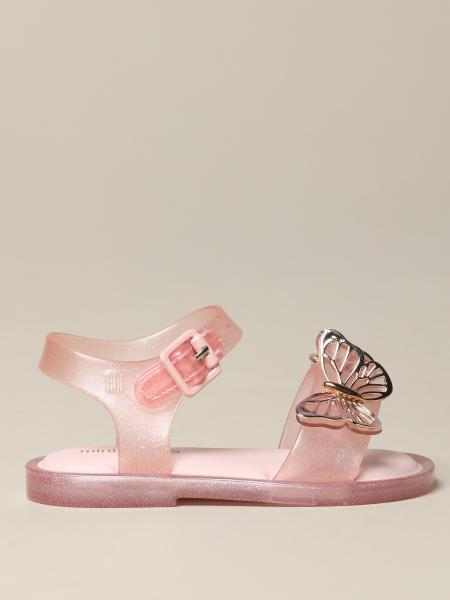 Mini Melissa sandal in glitter pvc with butterflies