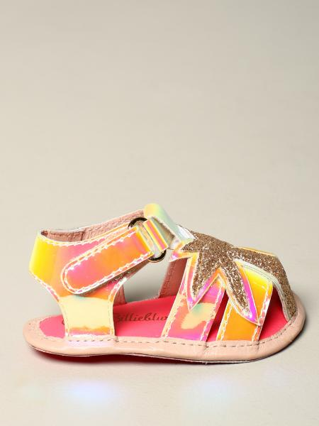 Billieblush multicolor sandal with glitter palm