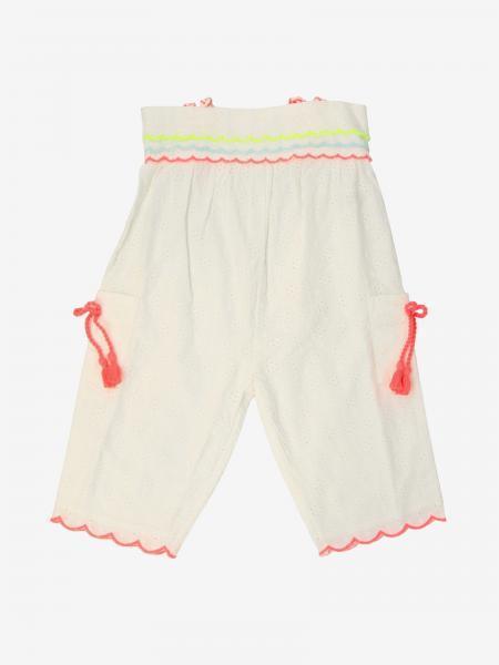 Pantalone Billieblush con bordi a onde in tessuto Sangallo