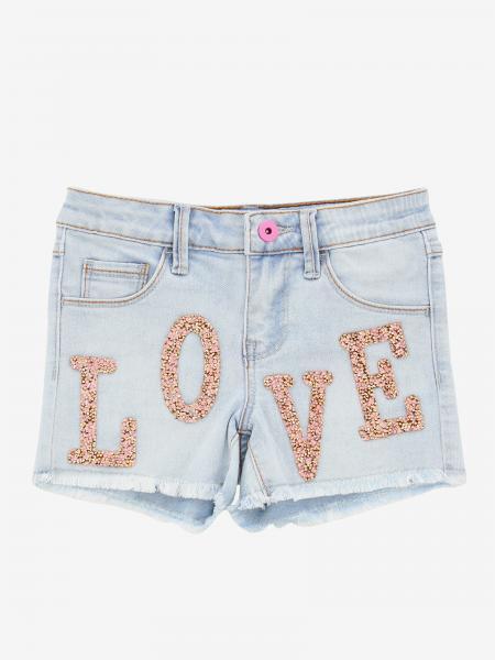 Pantaloncino di jeans Billieblush con scritta love