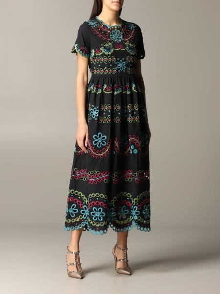 Red Valentino dress with floral embroidery print