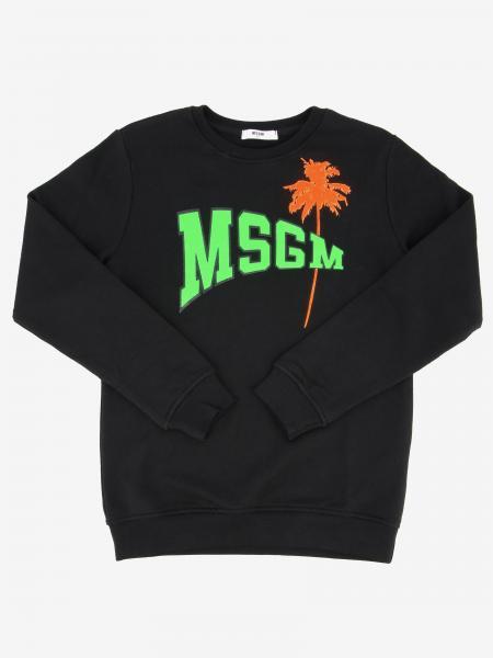 Msgm Kids logo 圆领卫衣