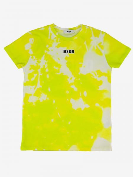 T-shirt Msgm Kids stampata con scritta dream