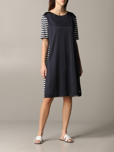 Fay striped section dress
