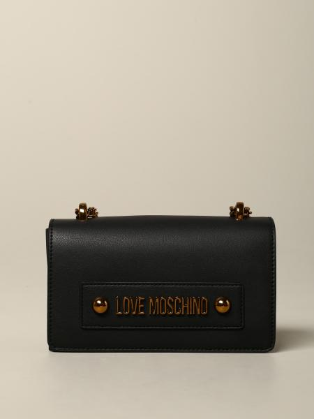Love Moschino shoulder bag in leather with logo