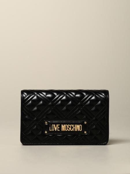 Borsa Love Moschino in pelle trapuntata con logo