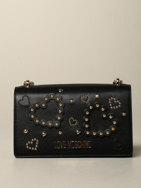 Love Moschino bag with hearts and studs