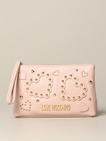 Love Moschino leather bag with studs