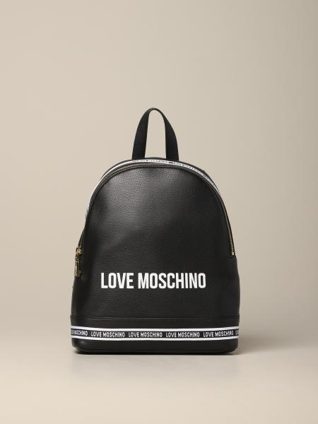 Love Moschino leather backpack with logo