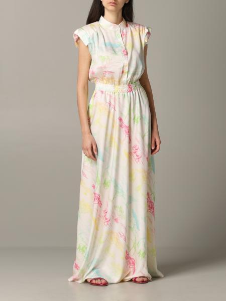 5 Progress long and printed dress