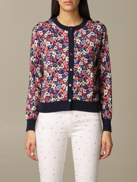 Twin-set cardigan with floral pattern