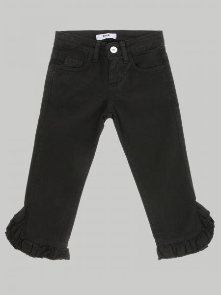 5 pockets Msgm Kids jeans with flounces