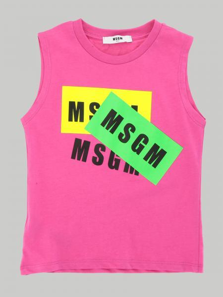 Canotta Msgm Kids con stampa logo