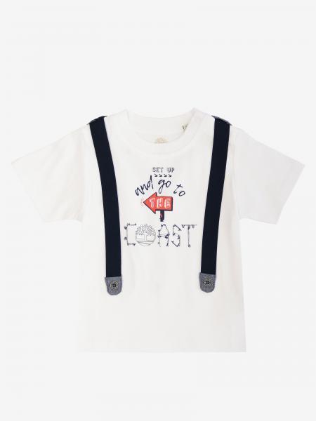 T-shirt Timberland à manches courtes avec imprimé bretelles