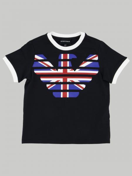 T-shirt Emporio Armani con stampa aquila