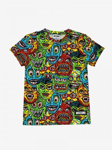 T-shirt Moschino Kid avec imprimés all over