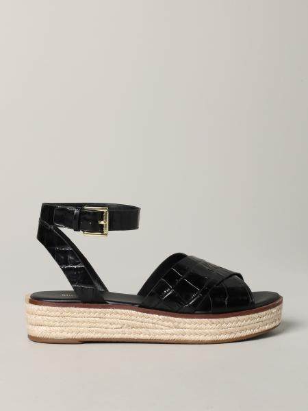 Michael Michael Kors sandal in croc print leather