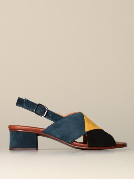 Sandalo Quirita in camoscio con pannelli colorati