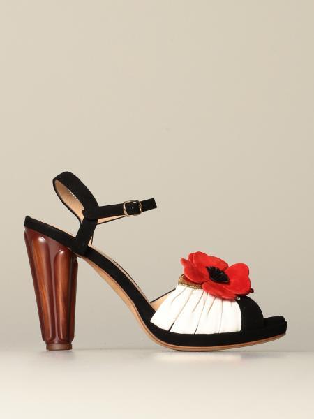 Sandalo Jusla Chie Mihara con applicazioni floreali