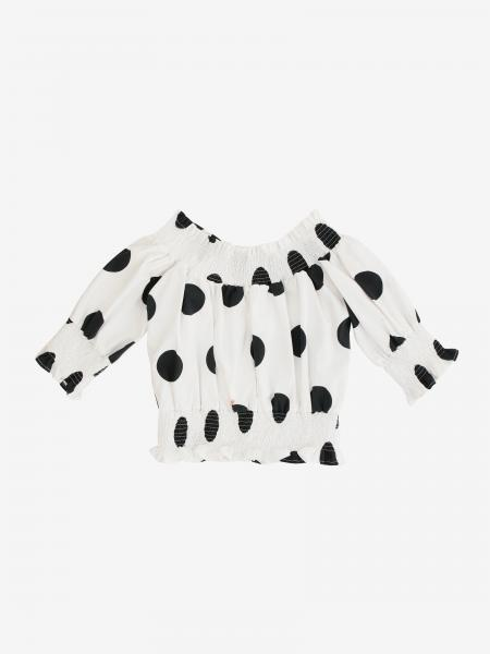 Msgm Kids top with macro polka dots