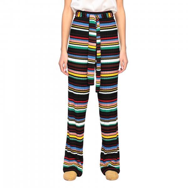 Pantalone M Missoni a coste con cinta