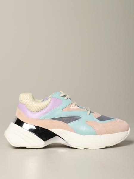 Sneakers Pinko en daim cuir et filet