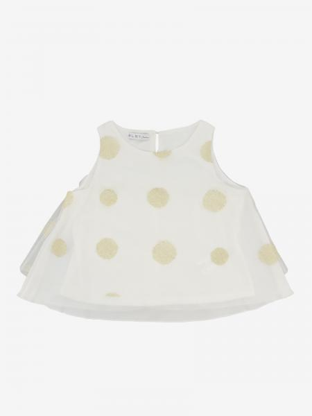 Elsy top with macro polka dots
