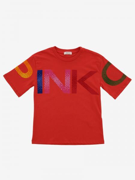 T-shirt Pinko con logo di strass
