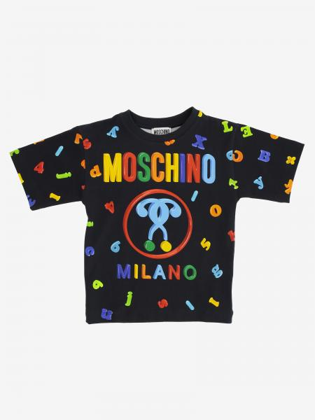 T-shirt Moschino Kid con stampe multicolor all over