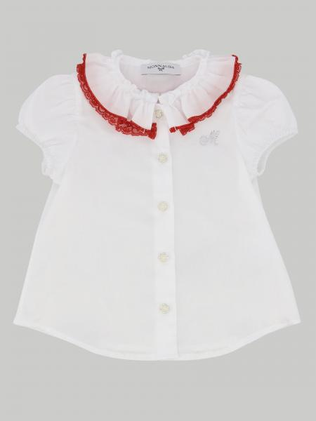 Monnalisa Bebe 'shirt with flounce and contrasting edges