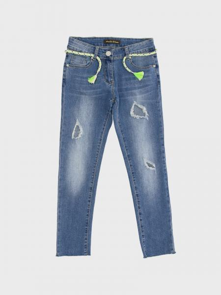 Manila Grace jeans with breaks and belt