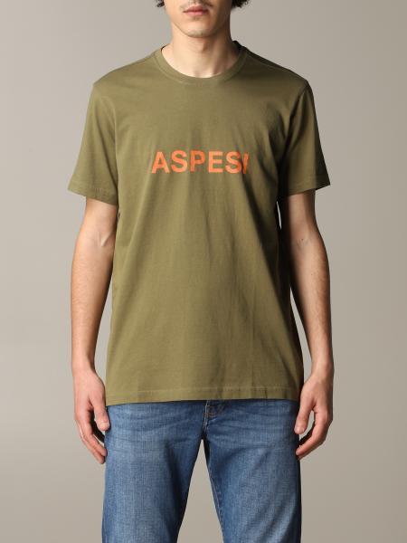 T-shirt Aspesi a maniche corte con stampa logo