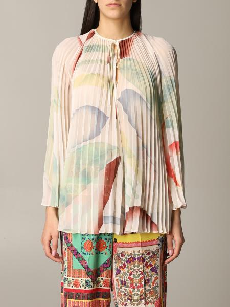 Etro pleated patterned shirt