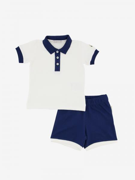 Moncler polo + shorts with logo set