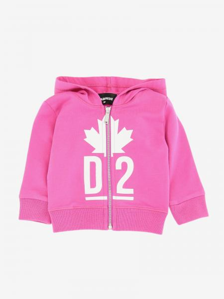 Felpa Dsquared2 Junior con cappuccio e zip