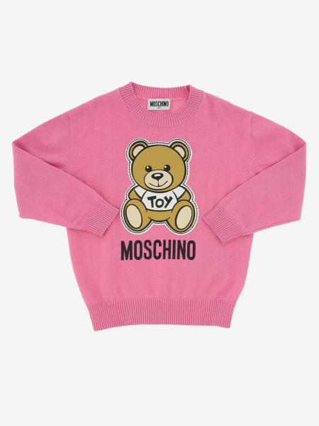 Pull col rond Moschino Kid avec Teddy